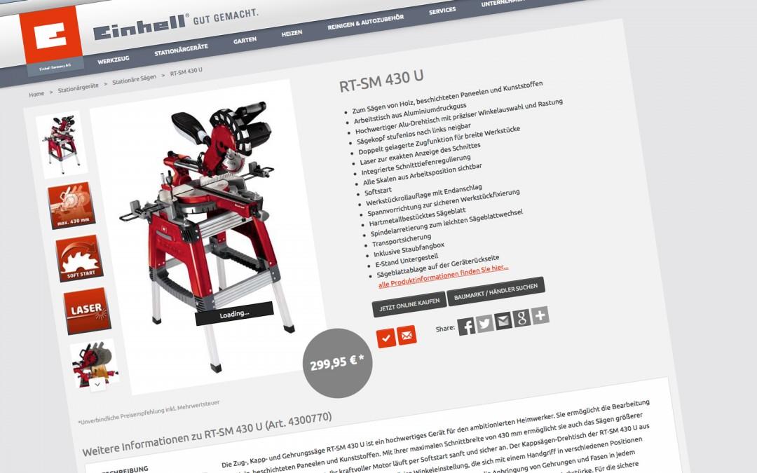 Einhell –Produkttexte RED