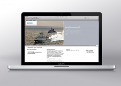 Siemens – Website und Touch-App